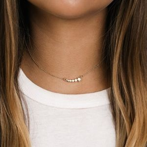 LULU'S Celestial Secret Gold Star Choker Necklace